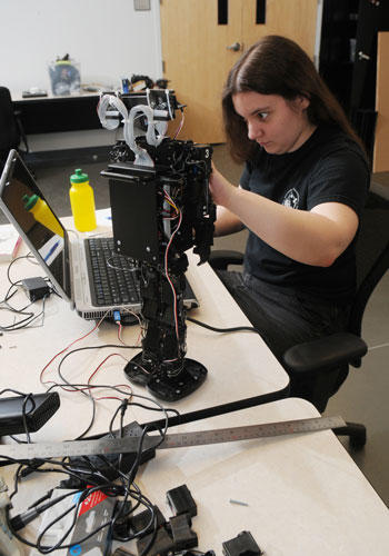 Electrical and computer engineering students have the opportunity to participate in different student organizations, which can help expand their knowledge in specific interest areas, such as robotics, electronics, and rocketry.
